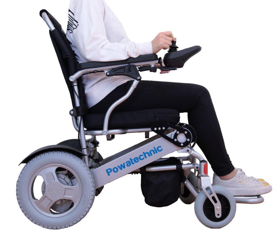 Light 28 5kg Portable Folding Electric Wheelchair